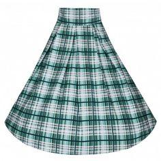 Molly' Terrifically Tartan Vintage Inspired 50's Swing Jive Skirt