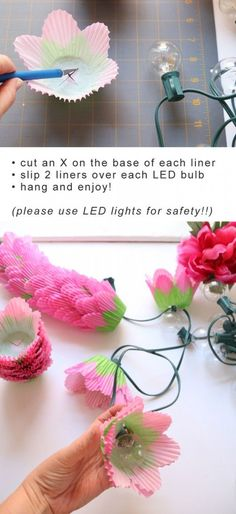 How to make DIY Flower Lights. Inspired by Disney's TinkerBell and the Legend of Neverbeast.