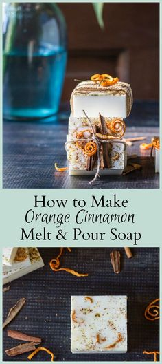 Melt and pour soap with sweet orange and cinnamon oil adds a nice cozy feel to any room. Great for showers, weddings, hostess and helper gifts.