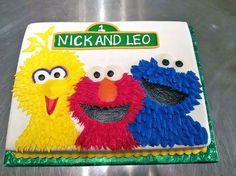 1st Birthday, Big Bird, Cake, Cookie Monster, Elmo, Kids, Sesame Street