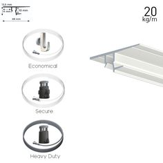 Artiteq All in One Shadowline Drywall kit for ceiling hanging. Choose from pre arranged kits. Ceiling Hanging, Recessed Ceiling, Hanging Wire, Drywall Installation, Picture Rail, All In One, Packaging, Wrapping