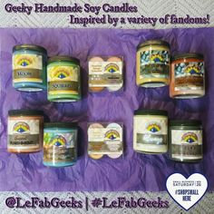Hey Fab Geeks! I hope you are having a great weekend. We have a variety of candles we haven't gotten to show all you lovelies yet and I thought this is a good a time as any.  The #fandoms that inspired our candles above are: #Supernatural #Punisher #MarvelComics #StarTrek #TheWalkingDead #Saw #HarryPotter #EdgarAllenPoe  We have candles for #Freaks #Horror fans #Geeks of all kinds #BookLovers #TVLovers and much more.  DISCOUNT CODE 1: Use FAB16SALE at our Etsy to receive 35% off any…