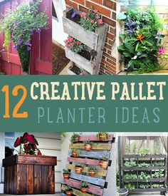 12 Creative Pallet Planter Ideas