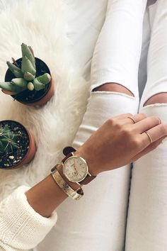 We love @kkarmalove's #FossilStyle featuring the Vintage Muse Boyfriend watch.
