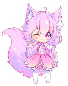 By hyanna natsu Eyes Chibi, Chibi Manga, Naruto Chibi, Dibujos Anime Chibi, Gato Anime, Cute Anime Chibi, Chibi Hair, Anime Naruto, Chibi Kawaii