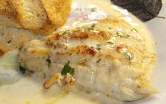 Walleye with Tarragon Butter Sauce