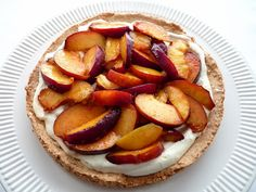 Almond Dacquoise with Nectarines & Cream