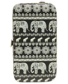 Слон Пейсли iPhone 5 Кошелек | Мокрой Печатью
