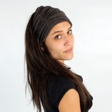 """""""Slub bandanna"""" turban (26€) for women or men, with dread, long hair or not ! Turban by Psylo Fashion, inspired by the Tribal-Urban move, Goth or Ethno-Punk"""
