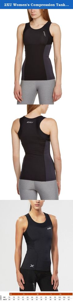 2XU Women's Compression Tank Top, Black/Black, Medium. The 2XU Vented Compression Tank is engineered for muscle containment and supporting the upper body, shoulders and core region to maintain better posture and improved breathing while training and competing. This newly designed sleeveless top with mesh panels provides unrestricted arm mobility with a focus on maximum breathability and strength to the core of the body. ACTIVE USE Training & Competition Aerobic Sports…
