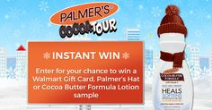 Enter now for your chance to win in Palmer's Cocoa Tour Instant Win! PLEASE CLICK HERE:  http://woobox.com/avuf3c  GOOD LUCK AND THANK YOU!