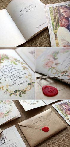 Jane Austen inspired wedding invitation for Marta & Szymon. / Designed by Calym Sercem.