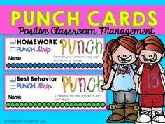 Punch cards for homework, reading, and math facts Kindergarten Homework, Kindergarten Classroom Management, Classroom Management Strategies, Elementary Counseling, Classroom Behavior, Behavior Management, Elementary Teaching, Upper Elementary, Sixth Grade Reading