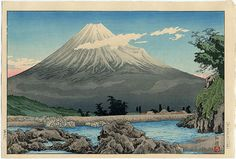 TAKAHASHI Hiroaki/Shōtei(高橋 弘明/松亭 Japanese, 1871-1945)    Fuji River  1930    Woodblock print