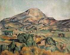 Mont Sainte-Victoire seen from Bellevue. Paul Cézanne. c.1886. Oil on canvas; 73 cm × 92 cm (37.5 in × 51.3 in).