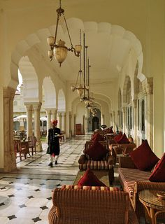 the style saloniste  Rambagh Palace, Jaipur
