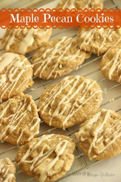 Maple Pecan Cookies-Chewy cookies filled with maple syrup