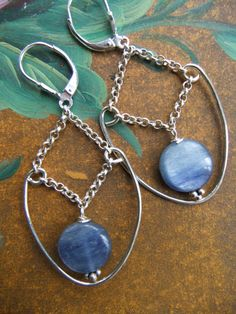 Chakra Jewelry Handmade Kyanite Sterling Silver by yummygems100, $52.00