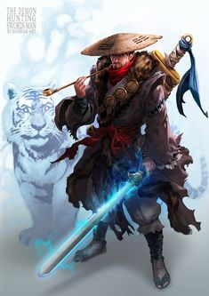 ArtStation - The Demon Hunting Swords-man, Sang-hun In