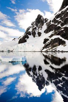 Lemaire Channel mirror. Antarctica landscape