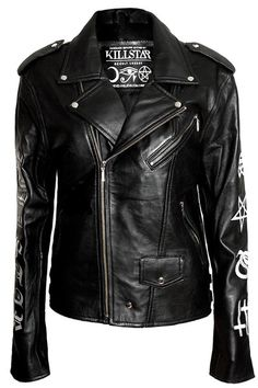Mens Sigil Leather Jacket [B] Studded Leather Jacket, Leather Men, Riders Jacket, Motorcycle Jacket, Biker Style, Casual Wear, Design Inspiration, How To Wear, Jackets