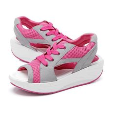 Summer, Casual, Sandals, Fish Mouth, Sandals, Shook Platform, Sandals