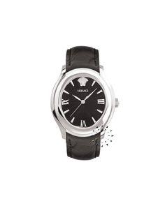 Σε κλασσικές γραμμές ένα ωρολόι Versace από ανοξείδωτο ατσάλι, μαύρο δερμάτινο λουράκι και μαύρο καντράν για να εντυπωσιάσετε τους γύρω σας. Versace, Black Stainless Steel, Omega Watch, Smart Watch, Watches, Accessories, Smartwatch, Wristwatches, Clocks