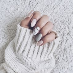 Marble nails art with grey and pink #marble #nails