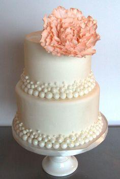 Peach peony cake