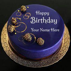 Happy Birthday Royal Blue Designer Cake With G.V.Vetrivel