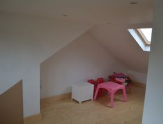 Loft conversion bedroom with velux