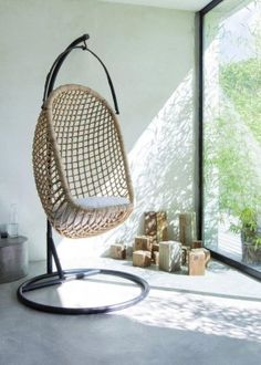 Swing chair bed on pinterest hanging chairs swing chairs and bubble chair - Fauteuil bubble chair ...