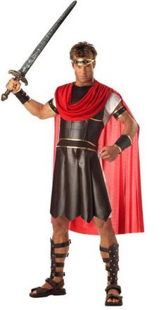 Men's Hurcules Adult Costume in time and ready for the big night on Halloween. Show off this cool outfit and sword at your Halloween party and save the world with your sword! http://www.worldofadultcostumes.com Our Adult Costumes website has many Halloween costumes to choose from so take a look if you want more ideas!