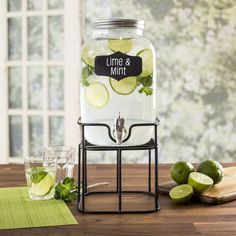 Perfect for parties, picnics and family gatherings, our Oldtyme Beverage Dispenser will make your next get together great! The classically designed dispenser features a convenient chalkboard tag, making it easy to let everyone know what beverage is being served. The glass pitcher features an easy fill, wide mouth opening with a secure twist-on lid that prevents accidental spills and keeps out summertime pests.