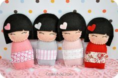 Kokeshis BY Casinha de Pano @Tony Gebely Gebely Gebely Wang: