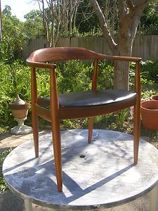 1960s Signed Danish Arm Chair Wegner Eames The Chair