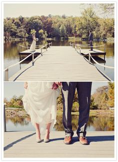 O wow! missouri lakeside wedding - exactly what I picture down to the cupcakes :)