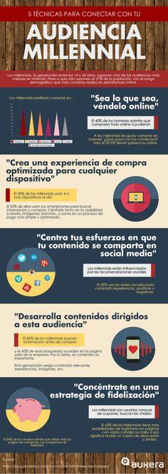 5 técnicas para conectar con tu audiencia millennial #infografia #infographic #marketing