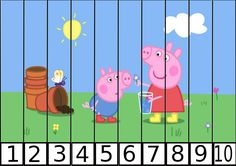 puzles de numeros pepa pig 1-10-1 Montessori Materials, Montessori Activities, Indoor Activities, Infant Activities, Craft Activities, Numbers Preschool, Free Preschool, Preschool Crafts, Peppa Pig Printables