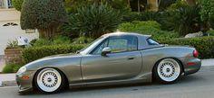 Custom Mazda Miata | ... low coilovers with custom 10k/12k springs - Mazda Miata NB on BBS RS
