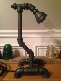 Steampunk Vintage Lamp Light Industrial Art Machine Age Desk   eBay