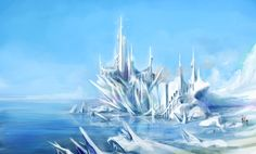 Image prompt 2 for Filipa - the land of ice.