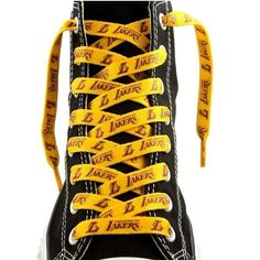 "Los Angeles Lakers One Pair Lace Ups 54"" Shoe Laces"