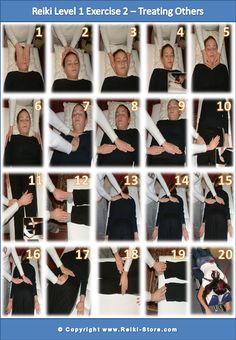 Reiki 1 Practice Infographic - Reiki Hand Positions for Treating Others with Reiki from http://reiki-store.com