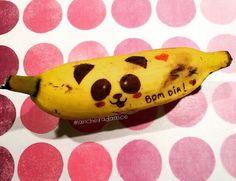 Recadinhos carinhosos na lancheira! ❤️ Banana divertida - Urso Panda