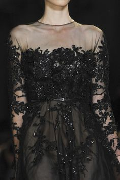 Elie Saab Spring 2013 Haute Couture Black Dress