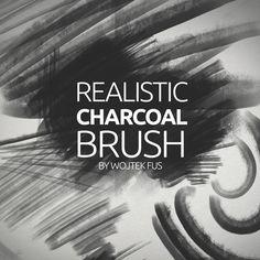 21 Realistic Charcoal Brush