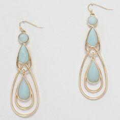 Lani Earrings in Aspen Blue.