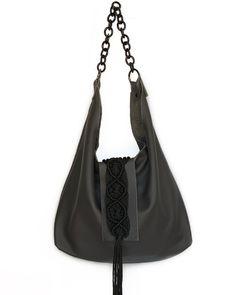 Destiny anthracite leather hobo bag Handmade Handbags, Hobo Bag, Destiny, Rebecca Minkoff, Leather, Fashion, Handmade Bags, Moda, Handmade Purses