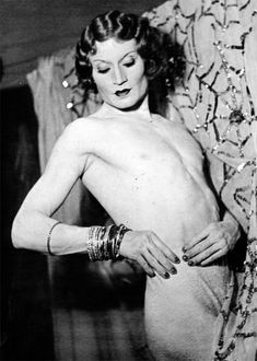 This is Barbette. Acrobat, Drag Queen, contemporary of Man Ray, Jean Cocteau, Josephine Baker, Picasso, and at one time the toast of Paris in the 1920s. Born in 1899 in Texas. After touring with Vaudeville shows around the nation, he moved to Paris and quickly became immensely popular, noted for taking his wig off at the act, thereby breaking the illusion.